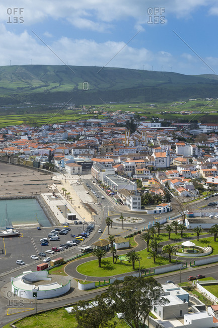 Portugal - April 2, 2018: Azores- Island of Terceira- Praia da Vitoria