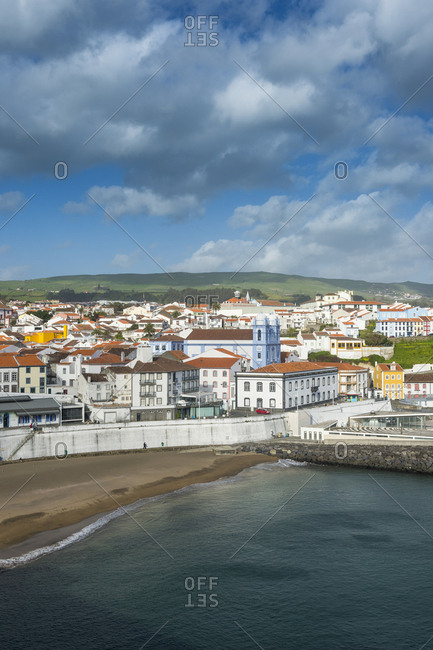 Portugal - April 2, 2018: Azores- Terceira- Angra do Heroismo- Overlook over the town