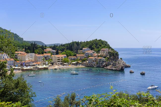 Montenegro - June 4, 2018: Adriatic Coast- Przno near Budva
