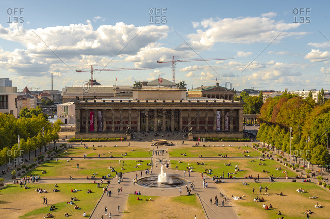Germany - August 26, 2018: Berlin- Berlin-Mitte- Museumsinsel- Old Museum