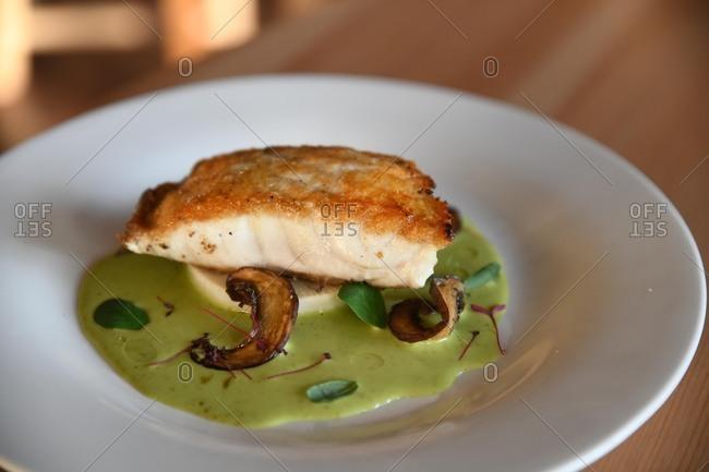 Gourmet fish dinner