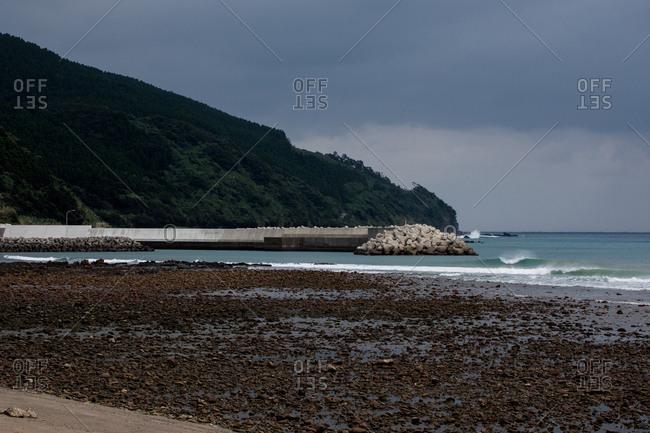 Seawall near the coast