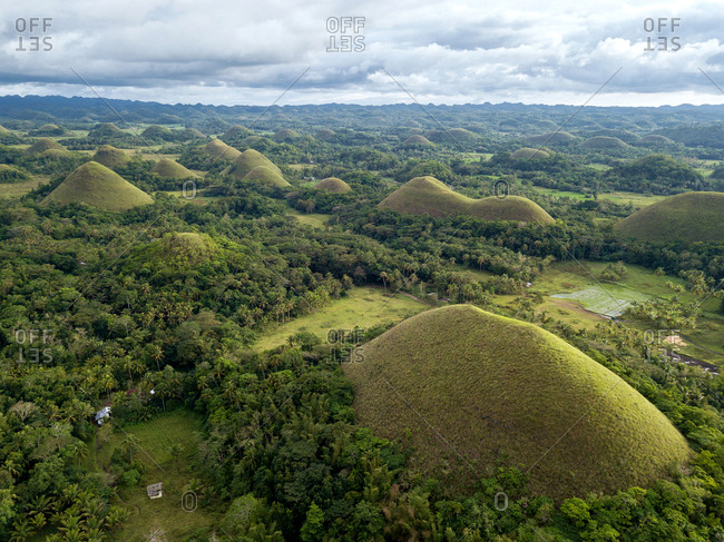 Aerial view of The Chocolate Hills. Bohol, Philippines