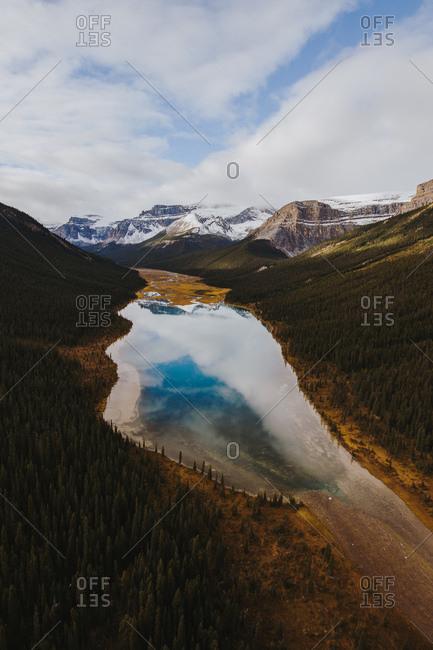 Beautiful lake and mountain landscape
