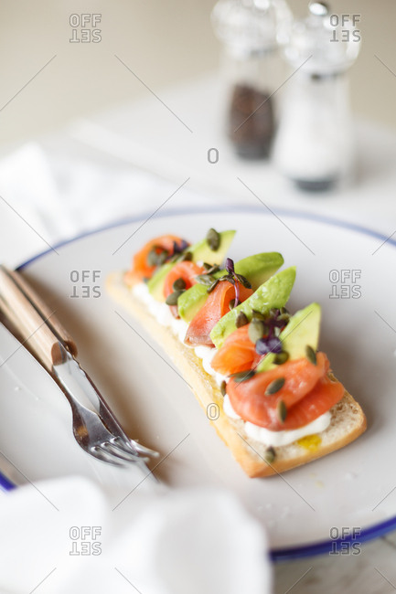 Gourmet avocado and tomato dish