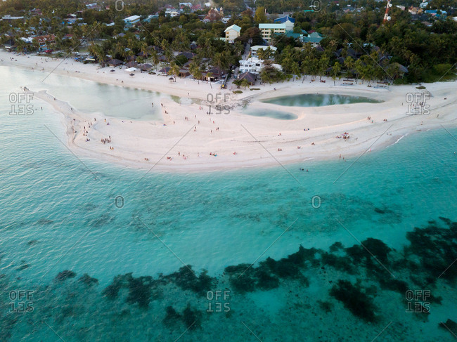 Aerial view of Santa Fe Beach, Bantayan Island, Cebu, Philippines