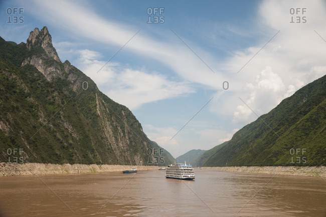 Boats on the Yangtze River in China