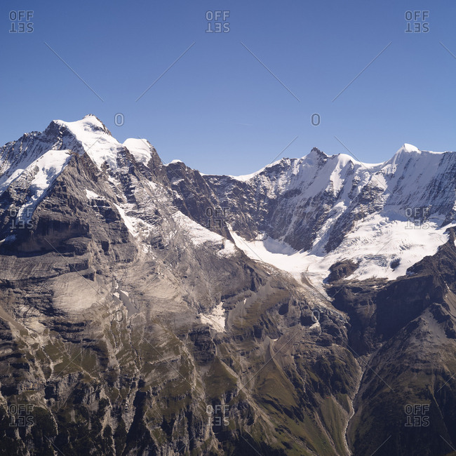 Spectacular views of the Alps from the Schlosshorn Observatory