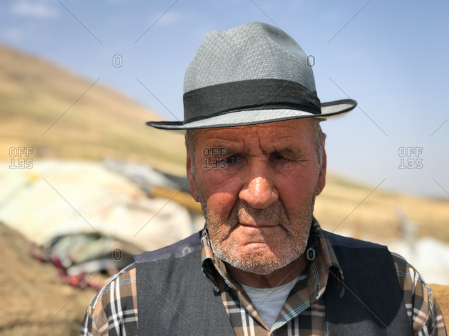Portrait of an Iranian old man