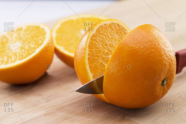 Cut the orange