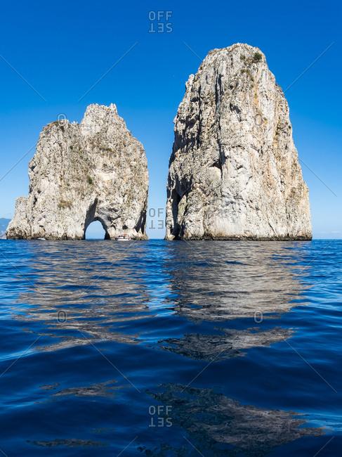 Italy- Capri- Gulf of Naples- Punta di Tragara- Faraglioni