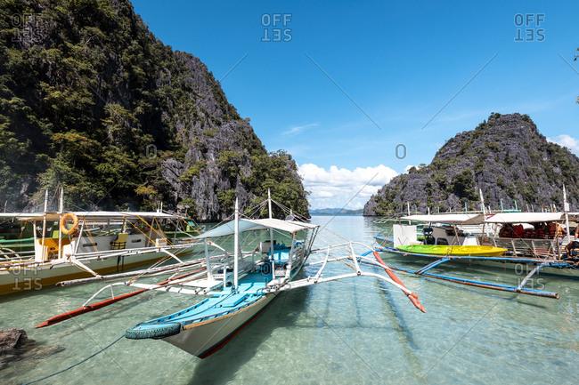 Philippines- Palawan- Coron- Banca boats