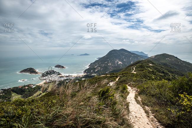 Hong Kong- Shek O Peak- coast and sea