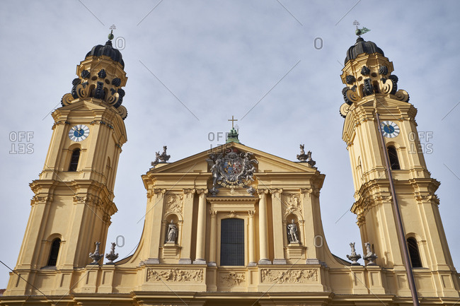 Germany- Bavaria- Munich- facade and towers of the Theatine Church