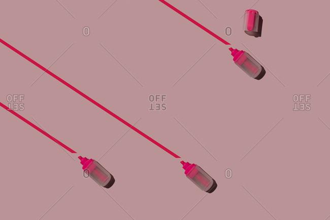3D Illustration- marker on pink background