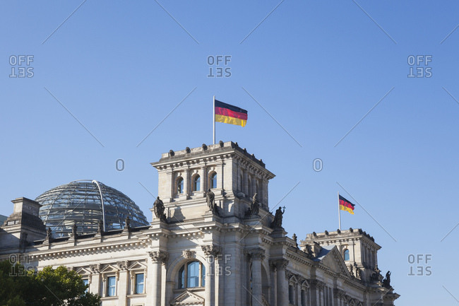 Germany- Berlin- Reichstag building with dome