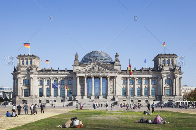 October 11, 2018: Germany- Berlin- disctrict Mitte- Reichstag building