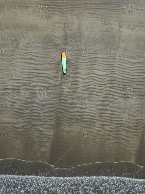 Bali- Kuta Beach- surfboard on the beach- aerial view