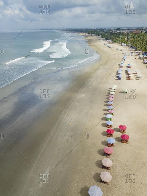 Bali- Kuta Beach- view to ocean and beach from above