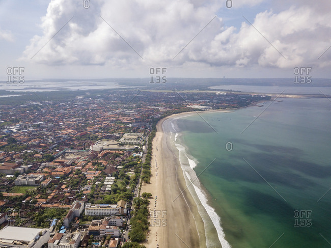Bali- Kuta Beach- coastline and Indian Ocean- aerial view