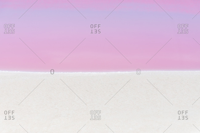 Mexiko- Yucatan- Las Coloradas- Pink Lake salt lake