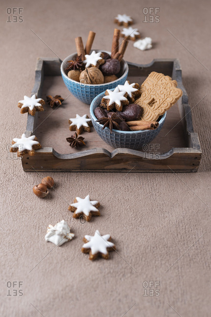 Christmas cookies- nuts and spices
