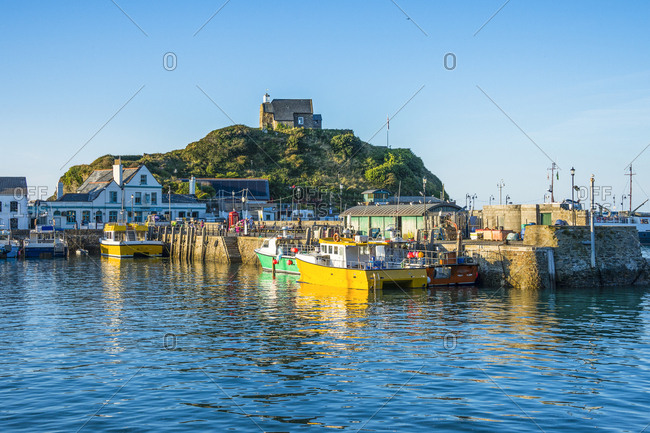 August 30, 2016: UK- England- Devon- Boat harbour of Ilfracombe