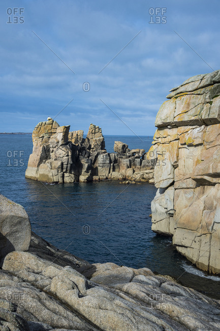 UK- England- Isles of Scilly- Huge granite rocks on St Mary's