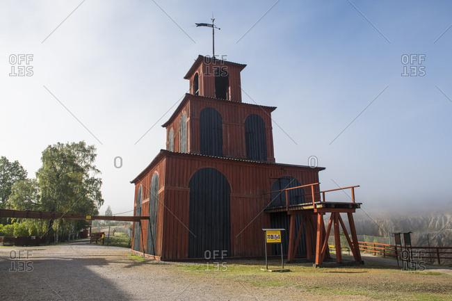 September 2, 2018: Sweden- Falun- Falun copper mine- Unesco World Heritage Site