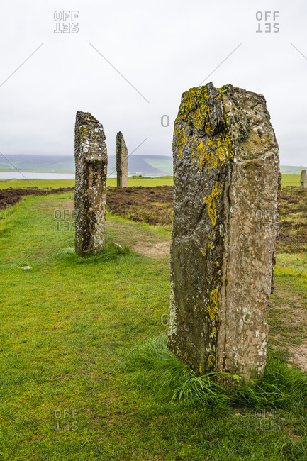 United Kingdom- Scotland- Orkney Islands- Mainland- Ring of Brodgar- Unesco world heritage sight