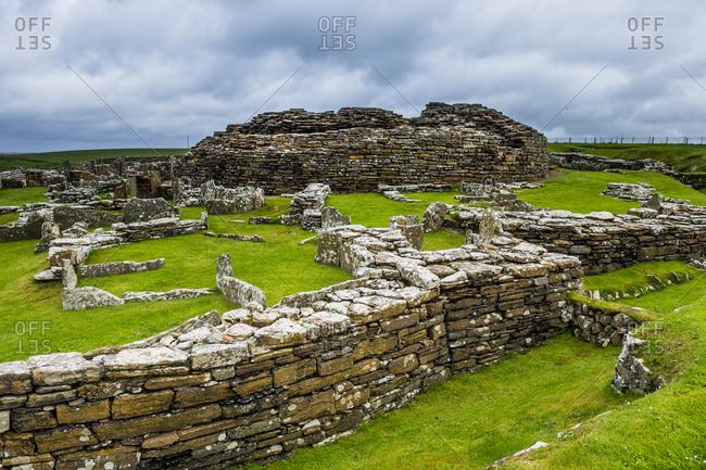 United Kingdom- Scotland- Orkney Islands- Mainland- Broch of Gurness