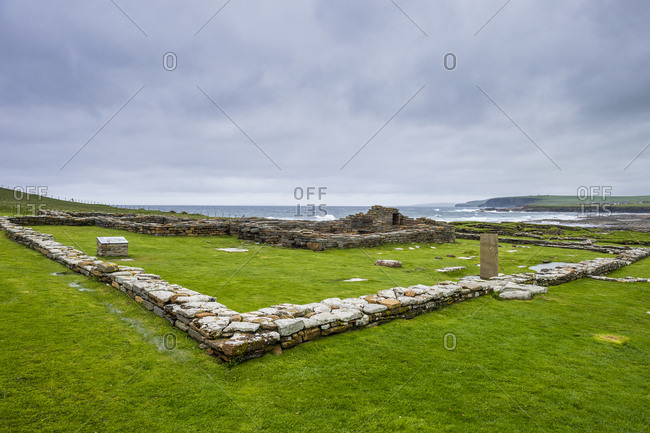 United Kingdom- Scotland- Orkney Islands- Mainland- Pictish fortress on the Brough of Birsay