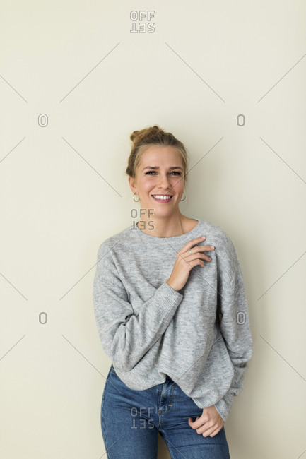 Portrait of a young woman- smiling