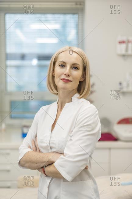 Portrait of doctor in beauty clinic