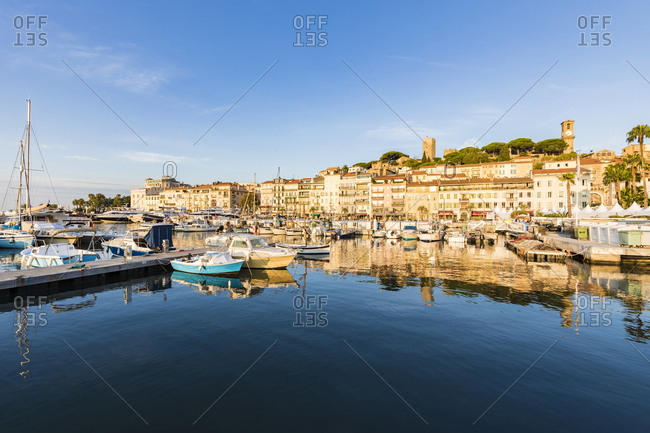 September 4, 2018: France- Provence-Alpes-Cote d'Azur- Cannes- Le Suquet- Old town- fishing harbour and boats