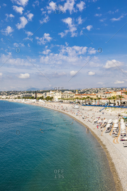 September 6, 2018: France- Provence-Alpes-Cote d'Azur- Nice- Promenade des Anglais- beach