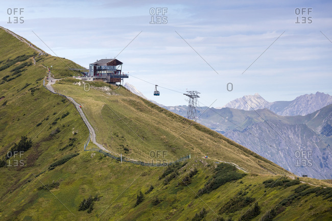 Germany- Bavaria- Allgaeu- Allgaeu Alps- Gundsattel- top station Fellhorn