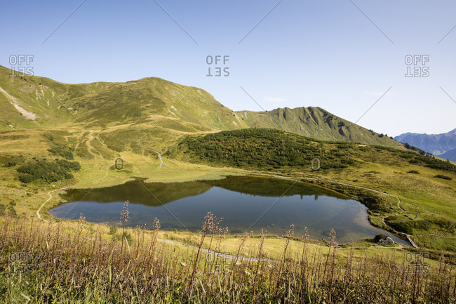 Germany- Bavaria- Allgaeu- Allgaeu Alps- Fellhorn- Lake Schlappoltsee