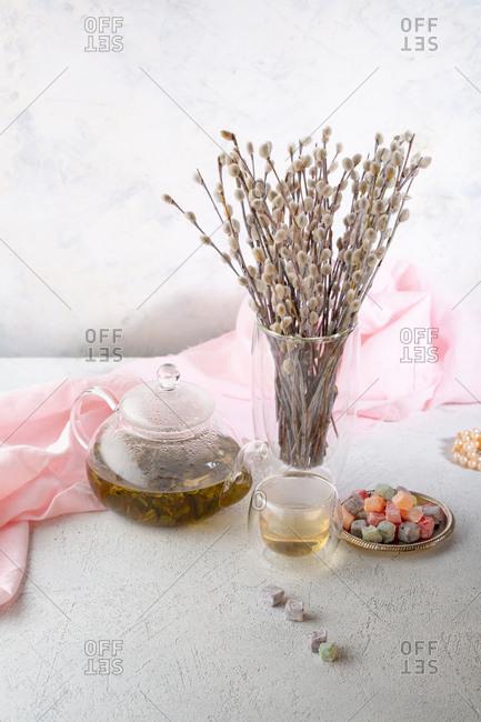 Spring Green tea composition