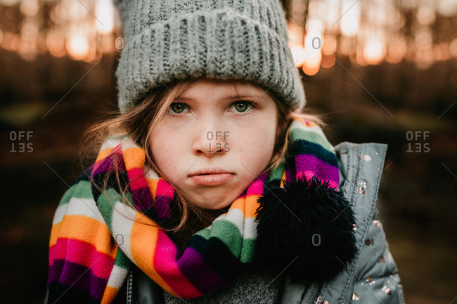 Little girl looking cold