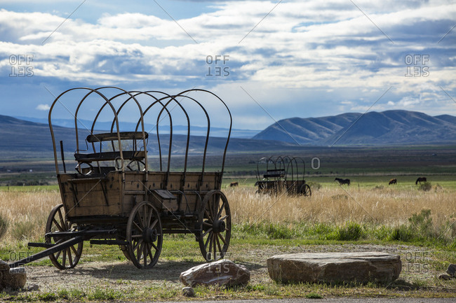 Chuckwagons at the City of Rocks National Reserve Visitor Center in Idaho
