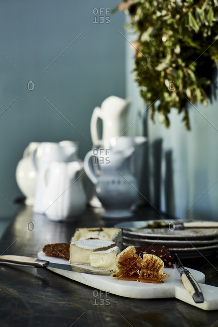 Los Angeles, California - September 1, 2016: Hors d'oeuvres on a side table