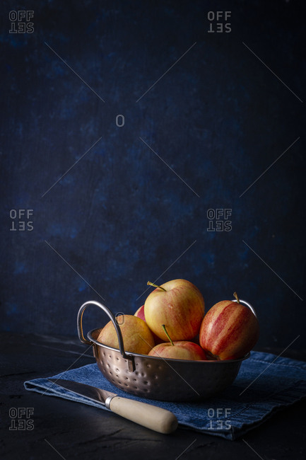 Still life of fresh apples