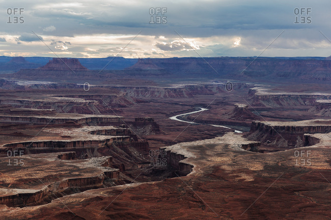 River and canyons in Canyonlands National Park in Utah
