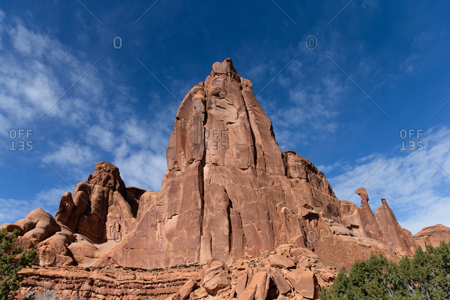 Red rock formations in Canyonlands National Park in Utah