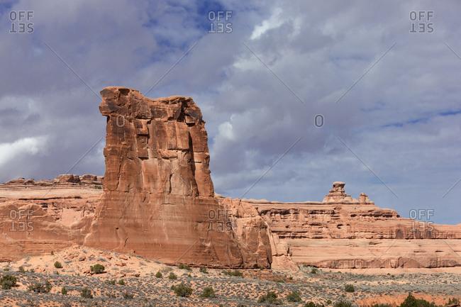 Beautiful rock formations in Canyonlands National Park in Utah