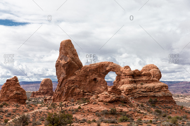 Arched rock formations in Canyonlands National Park in Utah