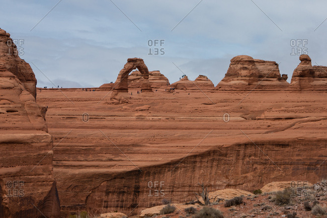 Tourists in Canyonlands National Park in Utah