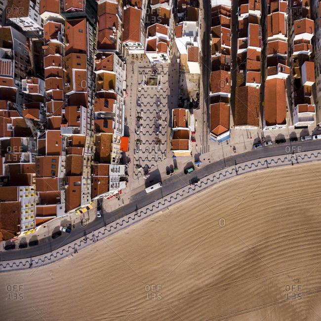 City by a beach