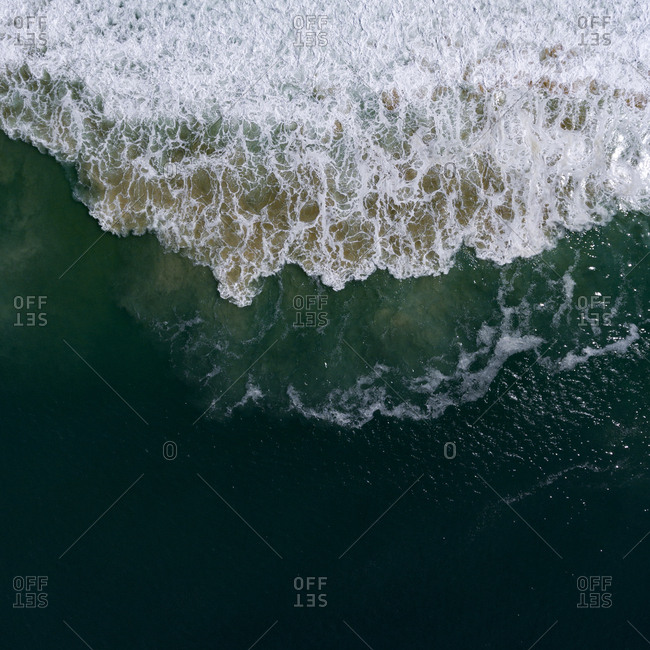 Aerial view of Atlantic Ocean waves